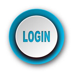 login blue modern web icon on white background