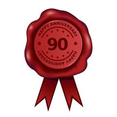Happy Ninety Year Anniversary Wax Seal