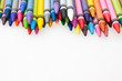 canvas print picture - colorful crayons