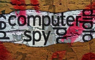 Computer spy  grunge concept