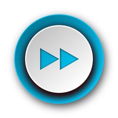 rewind blue modern web icon on white background