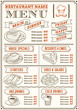 Restaurant Menu Template - 71174408