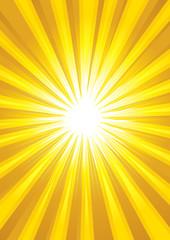 Illustration of yellow light burst as the background