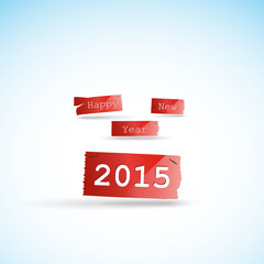 Happy new year 2015 creative greeting card design, easy editable