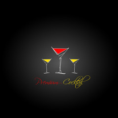 Premiun cocktail design menu background