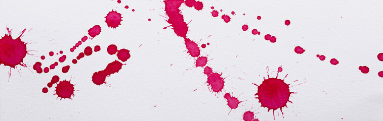 Tintenflecke auf Papier