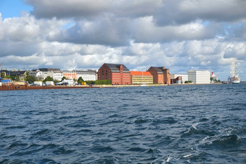 The historical warehouses on the Larsens Plads in Copenhagen.
