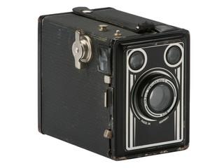 Alte Fotokamera mit Patina ohne Huntergrund