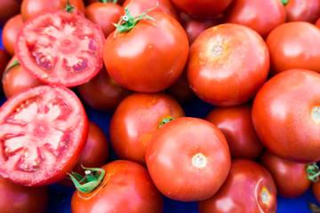 photo of  tomatoes. tomato background