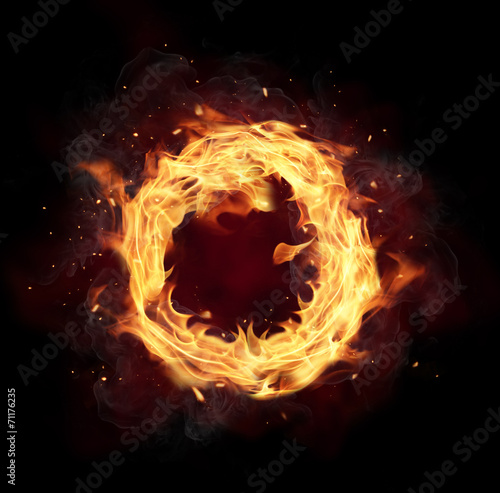 canvas print picture Fire circle
