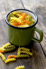 macaroni in different colors