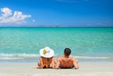 Couple on a tropical beach - 71176615