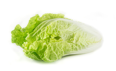 Chinese cabbage isolated on white