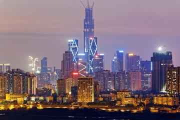 hong kong countryside at night