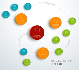 Vector modern and simple organization chart template