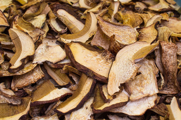 dried sliced mushrooms