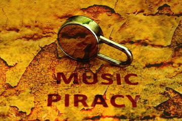 Music piracy grunge concept