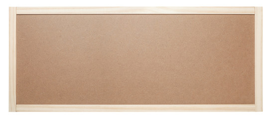 Blank bulletin board