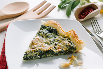 Savory cake with spinach and ricotta