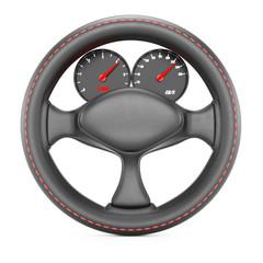 Steering wheel with dashboard