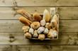 Pane e panini nel cesto