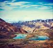 Mountain lakes in Himalayas