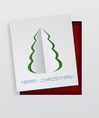 christmas tree paper design
