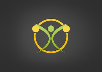sport fitness logo fit wellness Vector icon