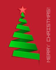 christmas tree folding paper design