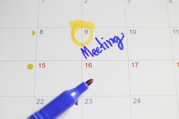 Calendar meeting plan