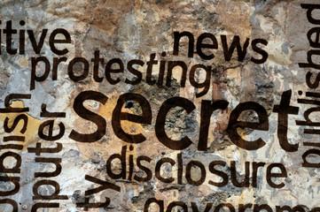 Secret text on grunge background