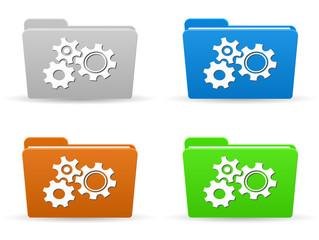 folder icon with gear mechanism