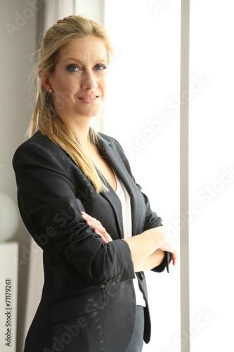 canvas print picture Businessfrau