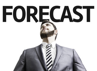 Business man with the text Forecast in a concept image