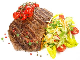 Steak mit Salat