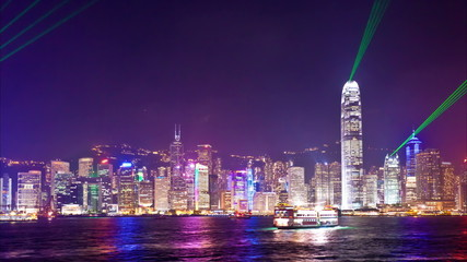 Timelapse video of Symphony of Light in Hong Kong
