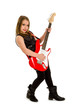 Young Girl Rock Star Guitar Player