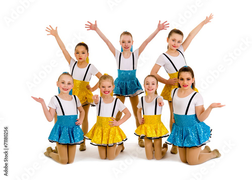 Foto op Canvas Dance School Junior Girls Jazz Dance Group