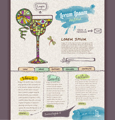 Website design template. Cocktail