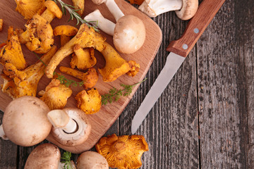 fresh mushrooms