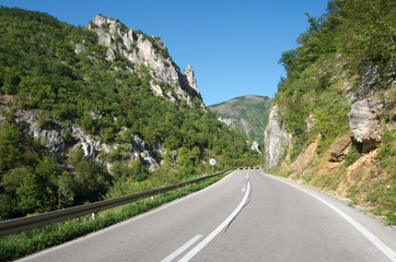 Mountain Road In Serbia