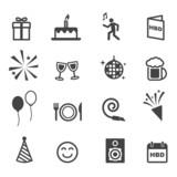 Fototapety birthday party icons