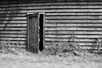 Rustic wooden farm building