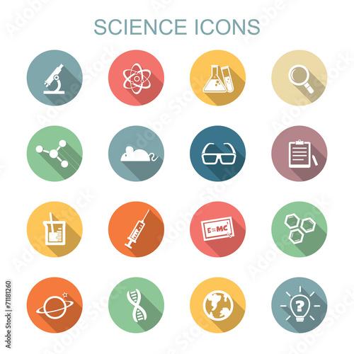 Fototapeta science long shadow icons