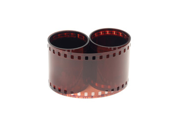 colored celluloid film on a white background