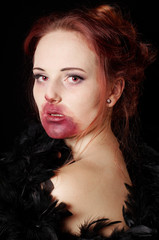 female vampire or zombie