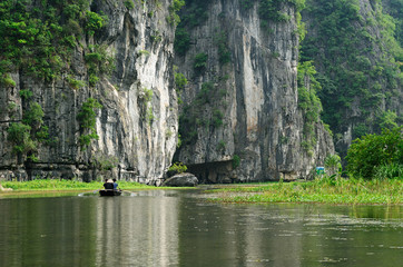 Tam Coc - is a popular tourist destination  in Vietnam.