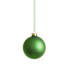 Grüne Weihnachtskugel