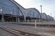 Leinwanddruck Bild - Detailaufnahme vom Bahnhof Leipzig