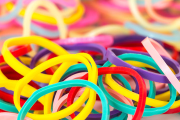 mixed color of elastic band background